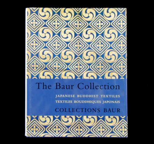 BOOK Japanese Buddhist Textiles Baur Collection gold silk brocade nishiki cranes