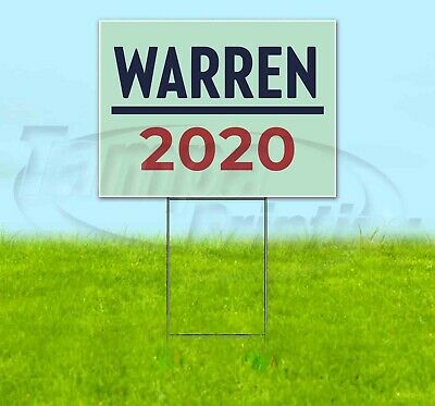 Warren 2020 18x24 Yard Sign Corrugated Plastic Bandit Lawn Business Usa Election