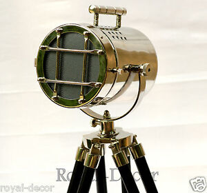 Theater Nautical Search Light Home Decorative Floor Lamp Tripod Spotlight Gift