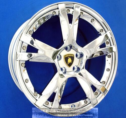 """Set Lamborghini Gallardo 19 Inch Chrome Wheels 19"""" Rims Calisto 2-piece Callisto"""