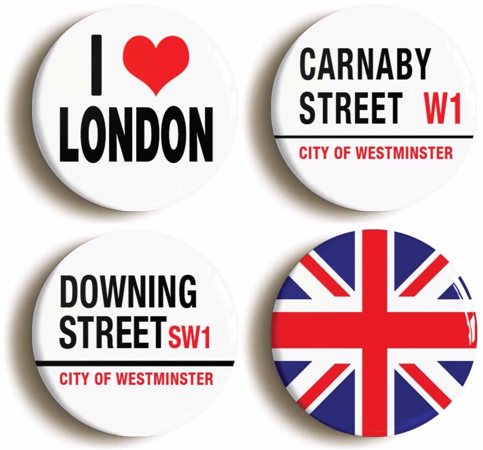london badge button pin set (size is 1inch/25mm diameter) tourist souvenir