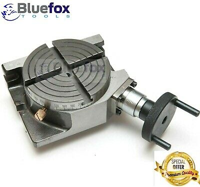 4 Inches 100 Mm Horizontal Vertical Rotary Table 4 Slots For Milling Machine