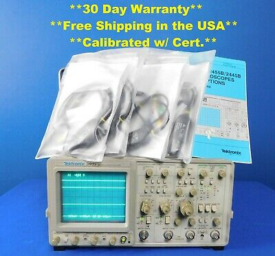 Tektronix 2465 Analog Oscilloscope 300 Mhz 4ch With 4 Probes