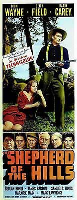 THE SHEPHERD OF THE HILLS Movie POSTER 14x36 Insert B John Wayne Betty Field