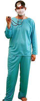 Halloween-Stage-Panto DOCTORS SCRUBS Men's Fancy Dress Costume ALL - Halloween Scrubs