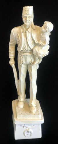 "Masonic Shriners ""Silent Messenger"" Statue (Ivory) - 7"" High"