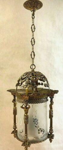 Vintage Hanging Brass Lamp Arabic / Muslim / Islamic / Middle Eastern Style