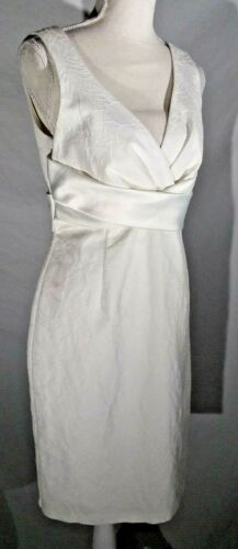 Donna Ricco NWOT Cocktail Dress White Sheath Special Occasion Sleeveless sz 8