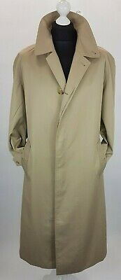 BURBERRY SINGLE BREASTED MEN SIZE 46 TRENCH  RAINCOAT BEIGE