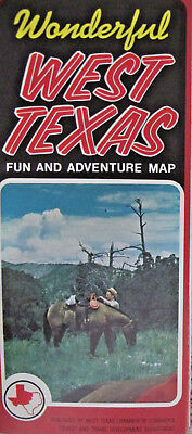 Wonderful West Texas 1974 Fun Adventure Map Tourist Booklet Attraction Brochure](Fun Adventure Maps)