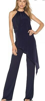 Nwt Trina Turk Grand Jumpsuit Blue 6 -