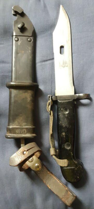 East German Soviet Bayonet Knife w/ Scabbard