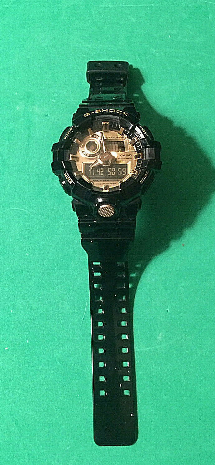 Men s Casio G-Shock 710-GB Classic Black And Gold Watch - $27.00