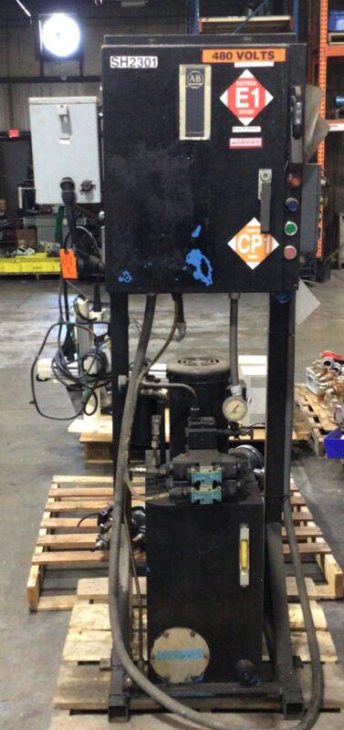 VICKERS 15 gallon 3 Hydraulic Power Unit DG4V-3S-2C-M-FW-B5-60 VM3561 #356LW