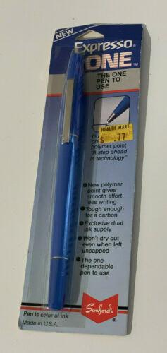 Vintage Sanford's Expresso ONE Polymer Point Pen Blue USA NEW