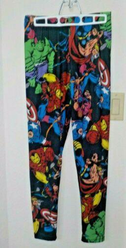 Ladies Womens Size Large Leggings Marvel Avengers Hulk Captain America Iron Man