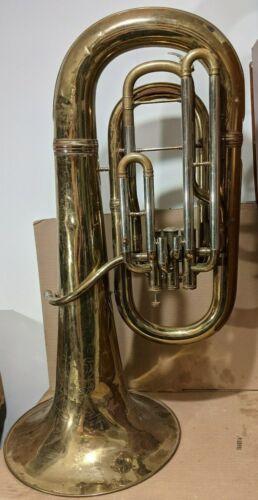 TUBA Antique York Master Grand Rapids Michigan Brass JW J.W. York & Sons