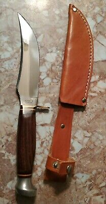"Vintage Olsen 2700 R 5"" Fixed Blade Knife w/ Original Sheath MINT"