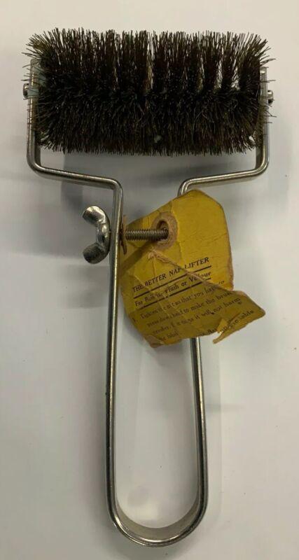 "Antique Fur Coat Nap Lifter ""Better Brushes"" Nap Lifter For Serge Velour Plush"