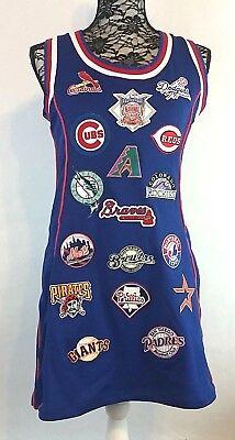 Cooperstown Collection Womens NATIONAL LEAGUE Baseball Jersey Tank Dress CUBS - Baseball Jersey Dress