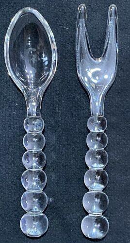 ELEGANT IMPERIAL GLASS CANDLEWICK PATTERN (400/75) -- SALAD SPOON & FORK SET
