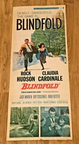 "Vintage1966 Movie Poster ""BLINDFOLD""  Rock Hudson, Claudia Cardinale #66/153"