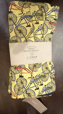 J. CREW YELLOW BICYCLE WOVEN BOXER SHORTS SIZE XXL  NEW Bicycle Boxer Shorts