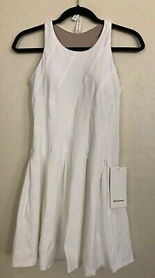 NWT Lululemon Size 6 Court Crush Tennis Dress White WHT $128
