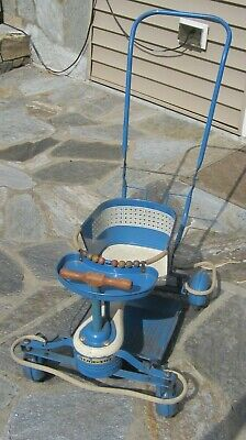 Taylor-Tot by Thayer Blue Stroller/Walker with Fenders Vintage 1949