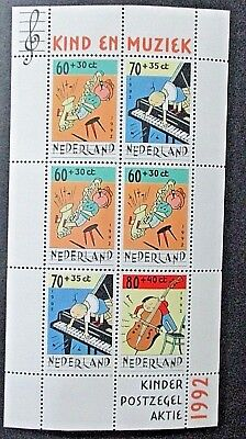 Netherlands 1992 Child Welfare-Music Mini Sheet. MNH.