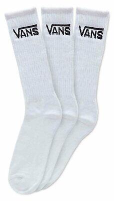 VANS Classic Crew Socks White (3 Pair PK)
