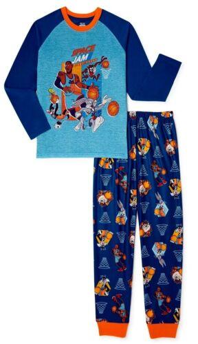 4 5 6 8 10 12 Space Jam Pajamas Set T Shirt Pants Tune Squad New Legacy Girl Boy