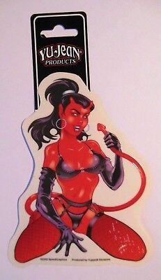 2x Autoaufkleber - Little Devil - (SM) ca. 10x13 cm Durchmesser - YuJean *Neu*
