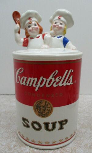 "Campbells Soup TWINS KIDS Large Cookie Jar 12"" High Excellent Condition 1998"