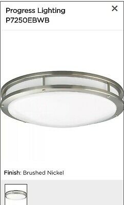 Progress Lighting P7252-09EBWB Modular Fluorescent Flush Mount Brushed Nickel Flush Mount Fluorescent Lighting
