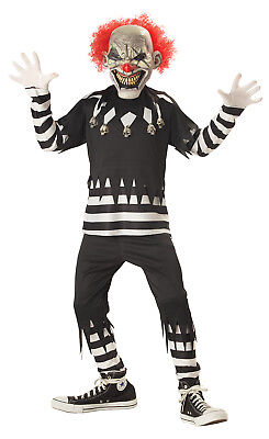 Pennywise Scary Creepy Clown Psycho IT Boys Child - Childrens Scary Costumes