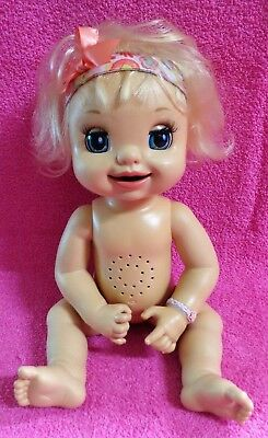 Used, Hasbro Baby Alive Learns To Potty Soft Face Blonde Doll Talks 2007 for sale  Ocala