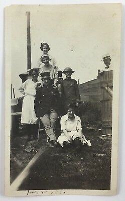 Snapshot Photograph Group of Women in Costume as Nurses & Soldiers July 4th 1921