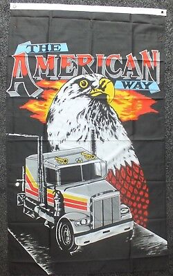 The American Way Flag 5x3 Line Dance American History USA Truck Eagle Trucker bn