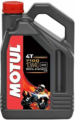 104092 Aceite Motul 7100 10W40 4T 4L 100% Sintético Moto / Motocicleta