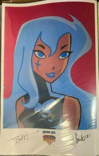 CARTOON DREAM GIRL LEGION OF SUPERHEROES ROB GRANITO SIGNED PRINT11 x 17 #oa-961