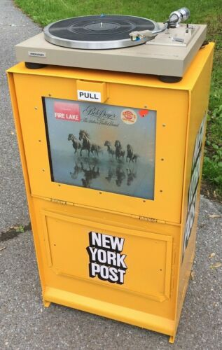 Licensed New York Post Vinyl Record Stand News
