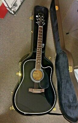 Takamine EF341SC 6 String Acoustic Electric Guitar with case. NEW. FREE SHIPPING