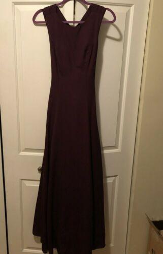 Tank Lined Bridesmaid A Line Princess Prom Dress Burgundy, Wine, Merlot Size 0