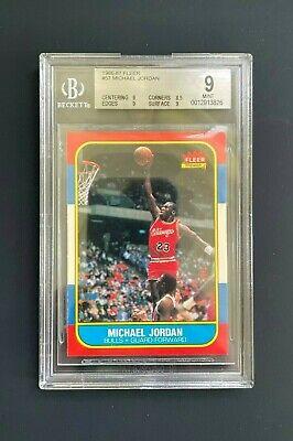1986 Fleer Michael Jordan #57 Rookie BGS 9!