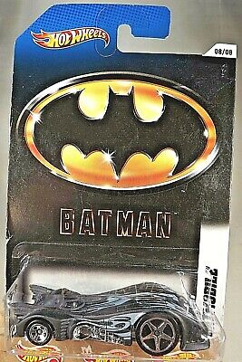 2011 Hot Wheels Batman 8/8 BATMOBILE Flat Black w/Lrg-Sm Chrome 5 Spoke Wheels