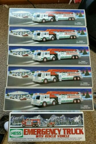 Lot of 6 Hess Fire Trucks