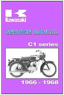 KAWASAKI Workshop Manual C1 Series C1D 1966 1967 1968 1969 & 1970 Service Repair