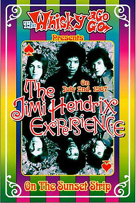 1960's Rock: Jimi Hendrix at The Whisky A Go Go in L.A. Concert Poster 1967