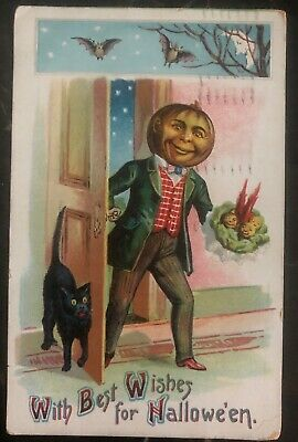 1909 New York Usa Picture Postcard PPC Cover Best Wishes For (Best Cover For Holidays)